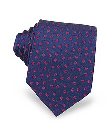 Floral & Paisley Woven Silk Men's Tie - Forzieri