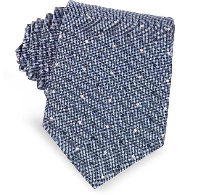 Polka-dots Woven Silk Tie - Forzieri