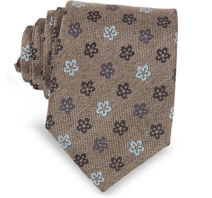 Floral Woven Silk Ties - Forzieri