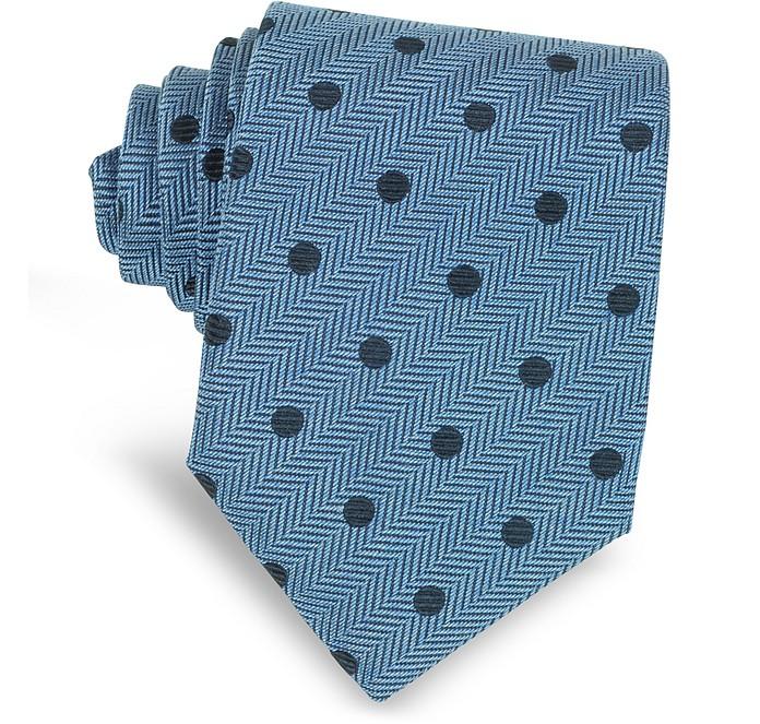 Dots Woven Silk Narrow Tie - Forzieri