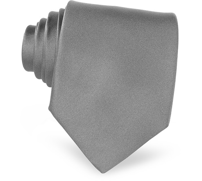 Twill Silk Solid Men's Tie  - Forzieri