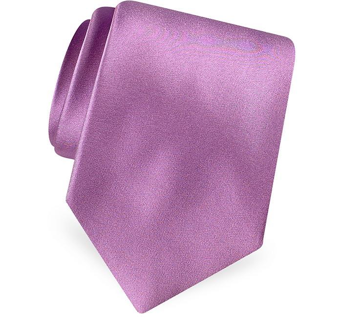 Cravate en pure soie satin unie - Forzieri