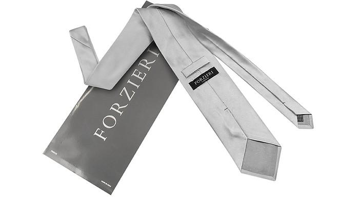 Cravatta in Pura Seta Monocolore Forzieri Biscotto wrewX