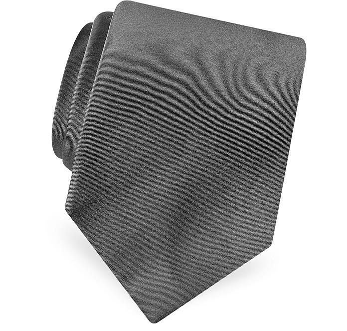 Schlichte Krawatte aus reiner Seide und Satin - Forzieri