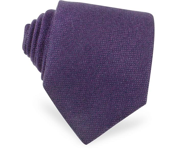 Kaschmir-Krawatte in schlicht purpur - Forzieri