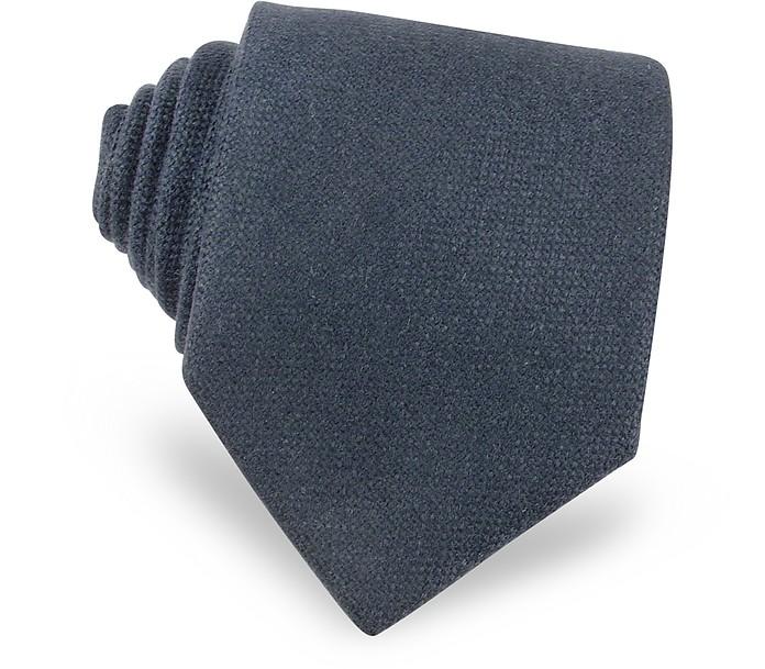 Extra lange Krawatte aus Kaschmir in schlicht himmelblau - Forzieri