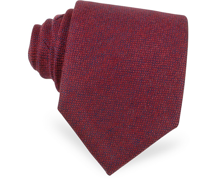 Red Cashmere Extra-Long Tie - Forzieri