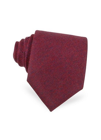 Extra lange Krawatte aus Kaschmir in rot - Forzieri
