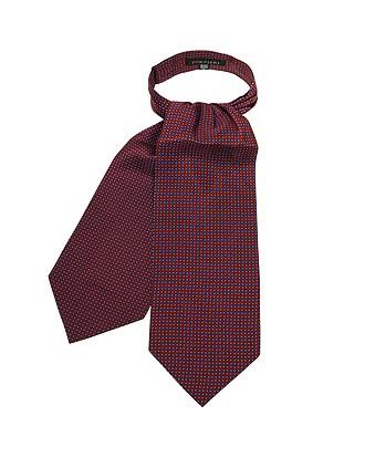 La Vita Italian Silk Tie Necktie solid red Mini Polka Dot