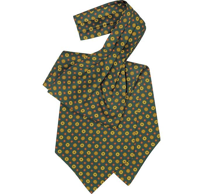 Floral Print Silk Tie Ascot - Forzieri / フォルツィエリ