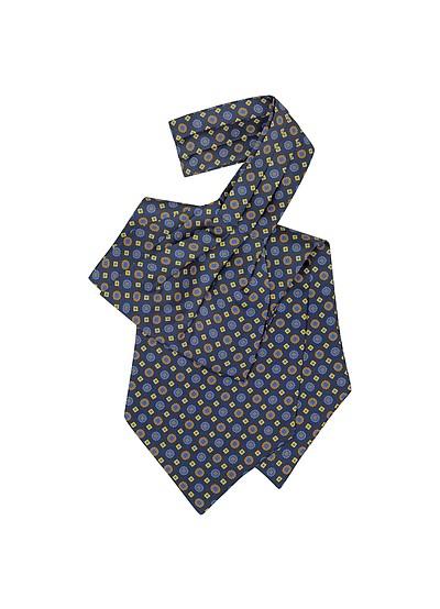 Floral Print Silk Tie Ascot - Forzieri