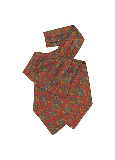 Large Paisley Print Silk Ascot - Forzieri