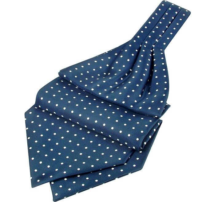 Polkadot Printed Twill Silk Ascot - Forzieri