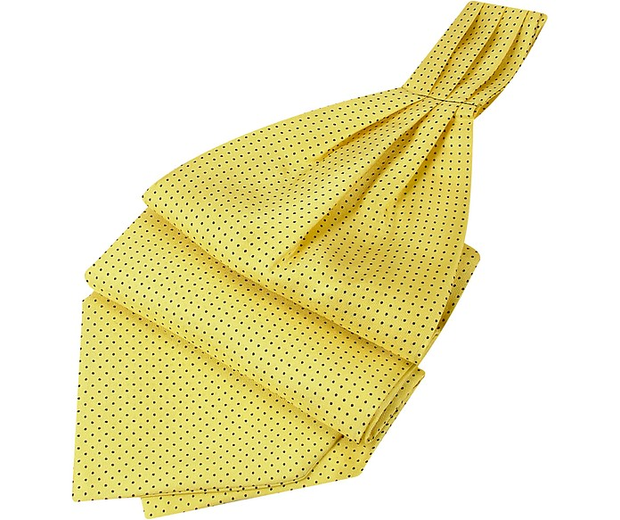 Mini Polkadot Yellow Silk Ascot - Forzieri