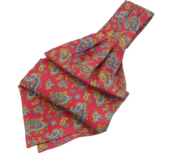 Paisley Print Twill Silk Ascot - Forzieri