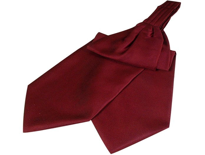 Solid Color Pure Silk Ascot - Forzieri
