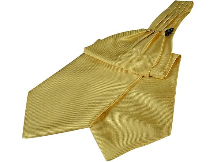 Solid Color Pure Silk Ascot - Forzieri