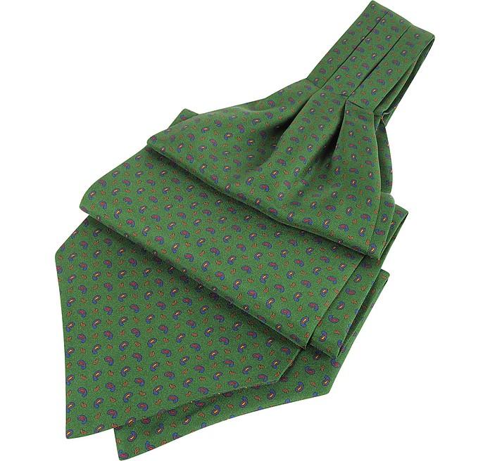 Corbata Ascot de Pura Seda Estampada - Forzieri