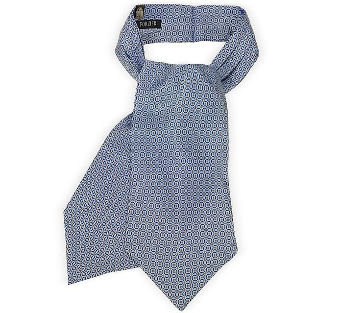Optical Print Silk Tie Ascot  - Forzieri