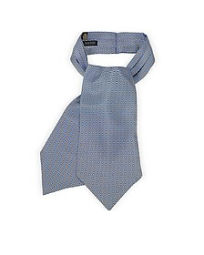 Optical Print Silk Tie Ascot  - Forzieri