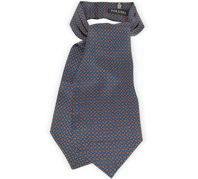 Corbata Ascot de Pura Seda Estampado Cachemir - Forzieri