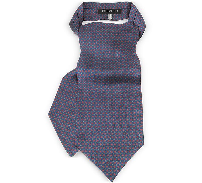 Paisley Print Silk Tie Ascot - Forzieri