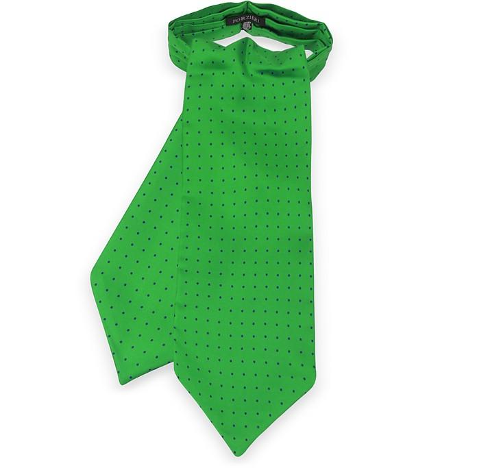 Polkadots Print Silk Tie Ascot  - Forzieri