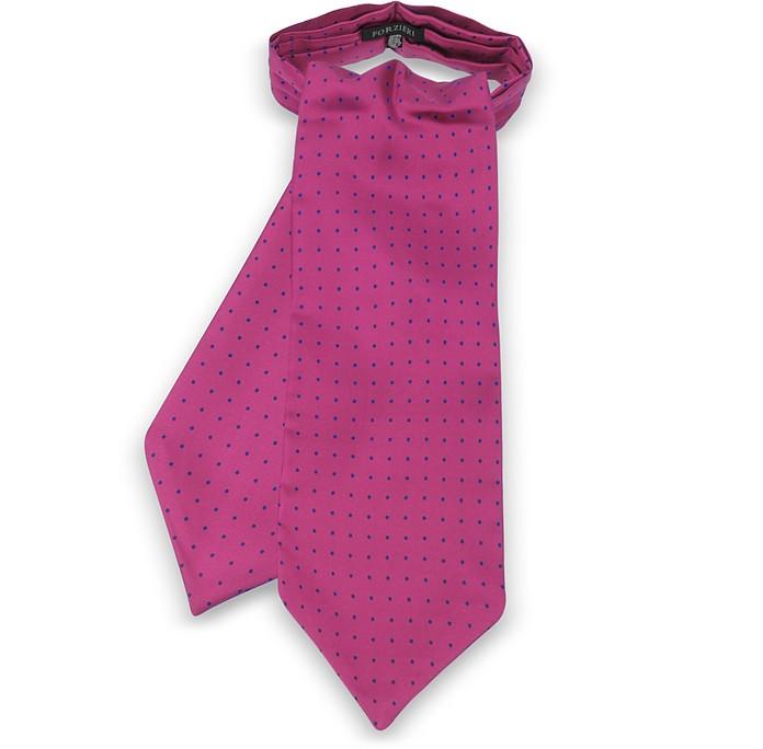 Corbata Ascot de Seda Estampada con Lunares - Forzieri