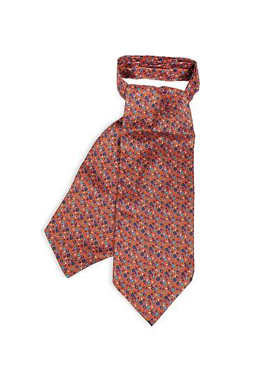 Floral Printed Silk Men's Ascot - Forzieri