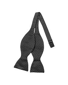Small Dot Woven Silk Self-tie Bowtie - Forzieri