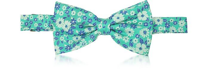 Floral Woven Silk Pre-tied Bowtie - Forzieri