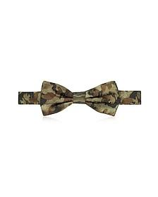 Camo Woven Silk Pre Tied Bow Tie - Forzieri