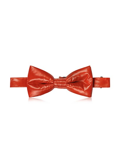 Red Nylon Puffer Bow Tie - Forzieri