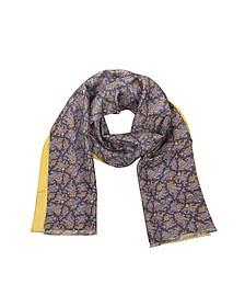 Écharpe homme réversible en soie avec motif cachemire - Forzieri