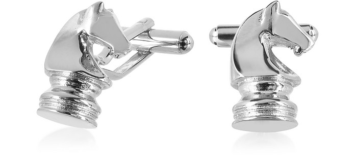 Old Style - Knight Chess Cufflinks - Forzieri