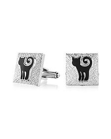 Fashion Garden - Cat Square Cufflinks - Forzieri