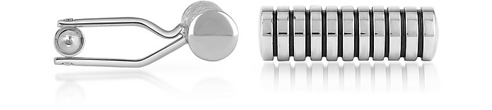 Cylinder Silver Plated Cuff Links - Forzieri