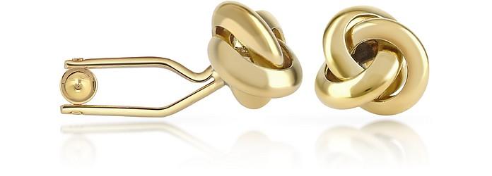 Vergoldete Manschettenknöpfe in Knotenform - Forzieri