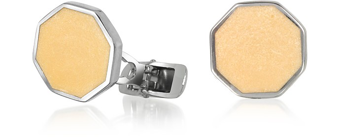 DiFulco Line Octagonal Sterling Silver Cufflinks  - Forzieri