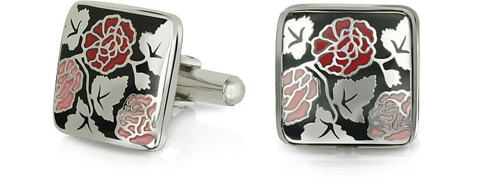 Fashion Garden - Roses Square Cufflinks - Forzieri