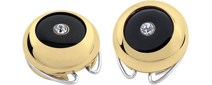 Gold-Plated Crystal Button Covers - Forzieri