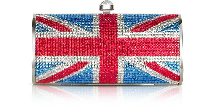 Union Jack Flag Crystal Jeweled Clutch  - Julia Cocco'