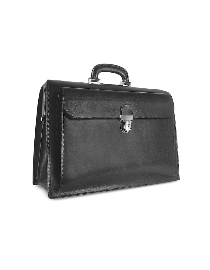 Doktortasche aus italienischem Leder in schwarz - Forzieri