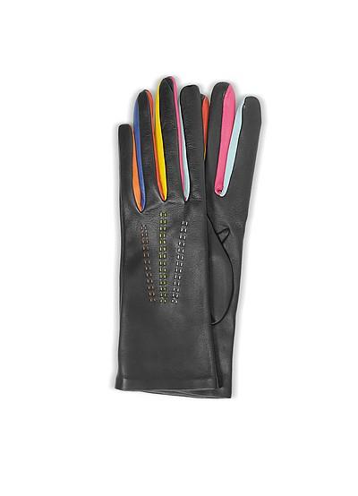 Handschuhe Arlecchino aus Leder mit Seidenfutter - Forzieri