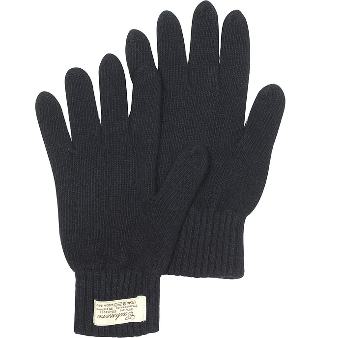 Blue Cashmere & Wool Women's Gloves - Forzieri