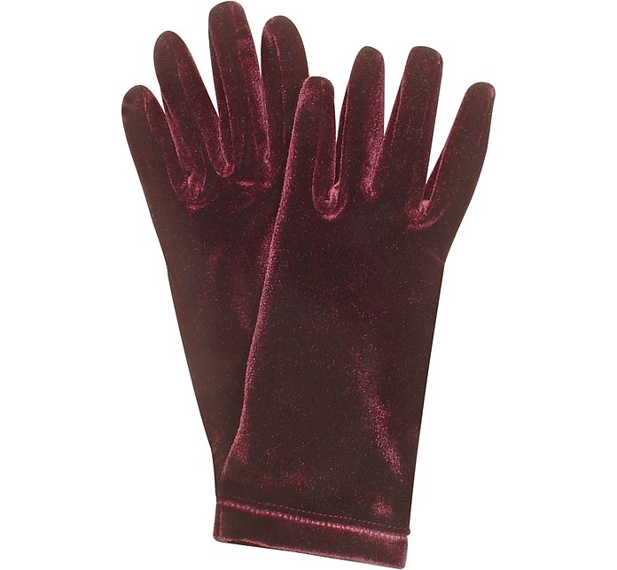 Ladies' Solid Velvet Gloves  - Forzieri