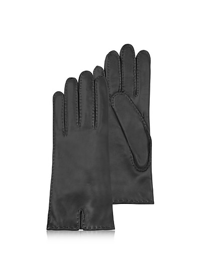 Schwarze Damenhandschuhe aus italienischem Leder - Forzieri