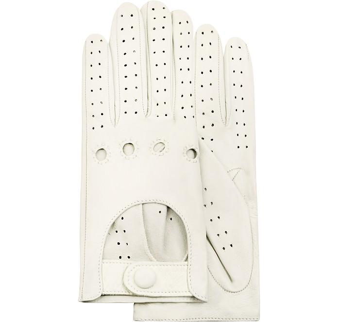 Damenhandschuhe aus italienischem Leder in perforiertem Design - Forzieri