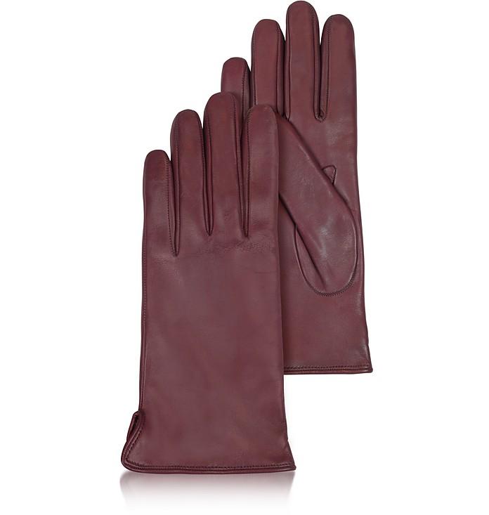 Bordeauxrote Damenhandschuhe aus italienischem Leder - Forzieri