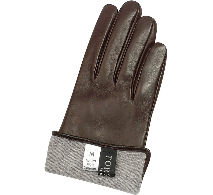 ea24427f741f Women s Dark Brown Cashmere Lined Italian Leather Gloves - Forzieri.   106.50  213.00 Actual transaction amount